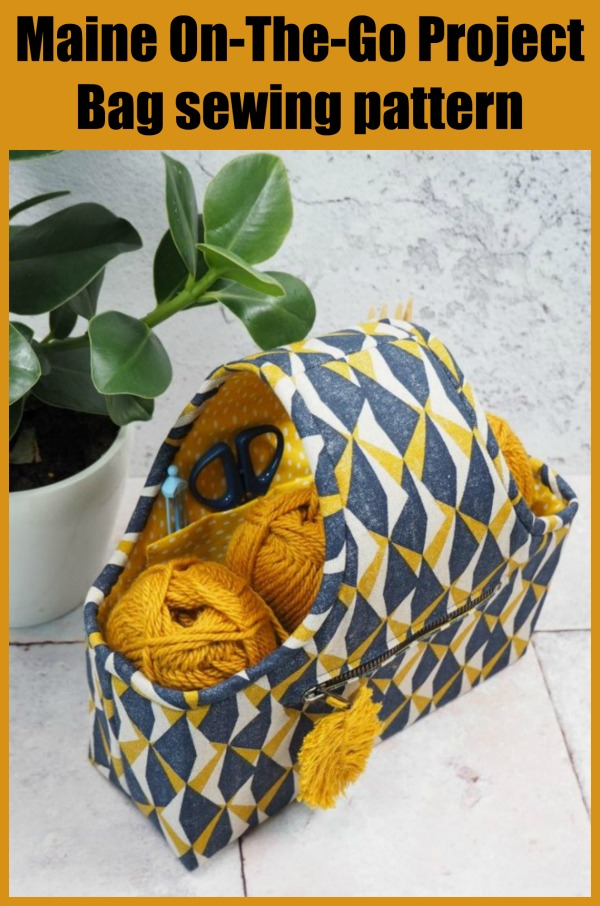 Maine On-The-Go Project Bag sewing pattern