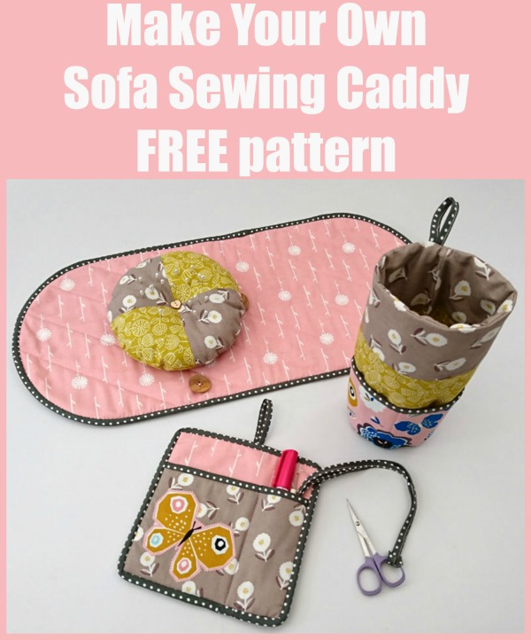Make Your Own Sofa Sewing Caddy FREE pattern