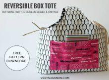 Reversible Box Tote Bag FREE sewing pattern