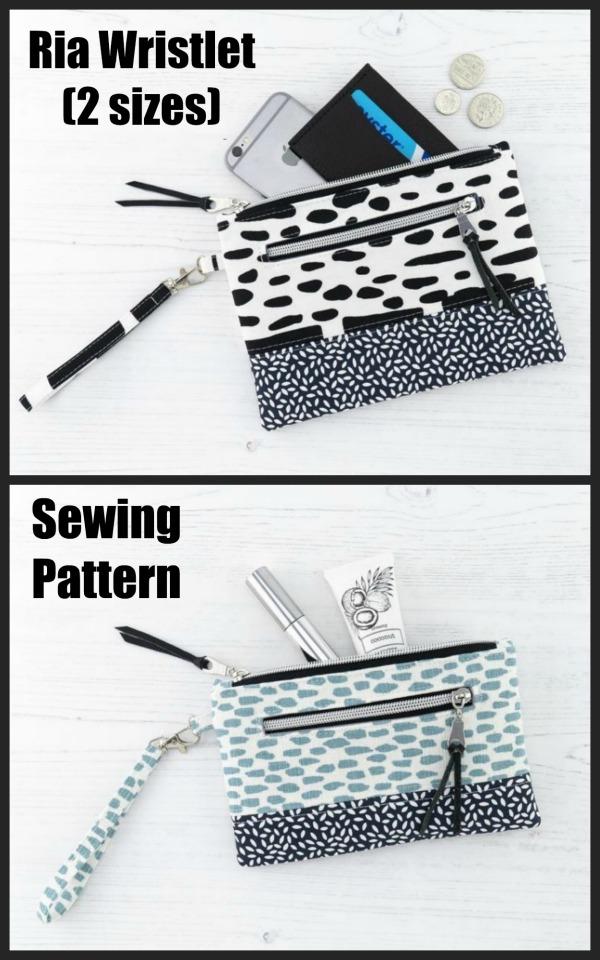 Ria Wristlet (2 sizes) sewing pattern