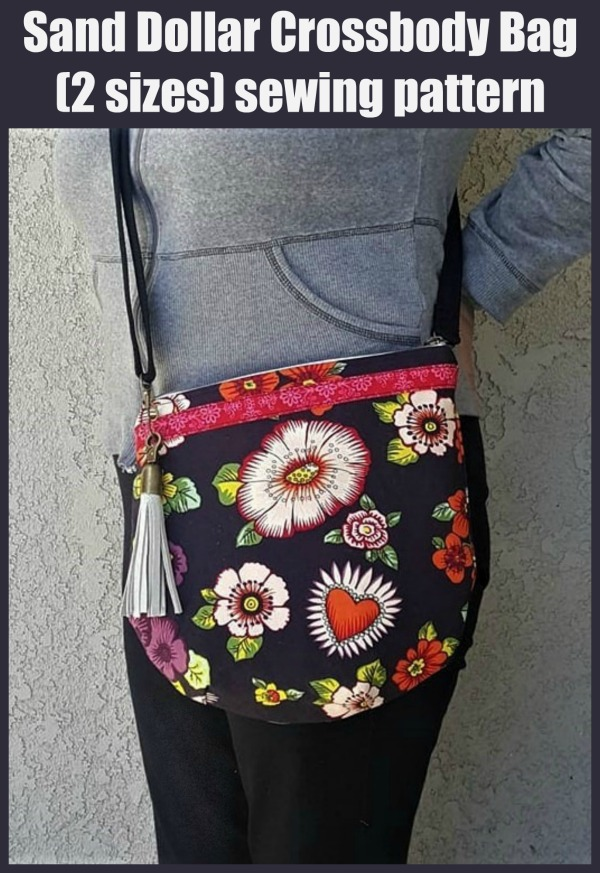 Sand Dollar Crossbody Bag (2 sizes) sewing pattern