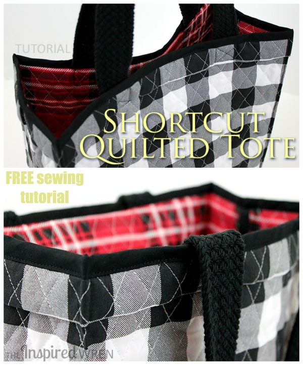 Shortcut Quilted Tote Bag FREE sewing tutorial