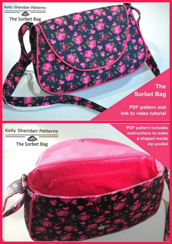 Sorbet Bag (with video) sewing pattern
