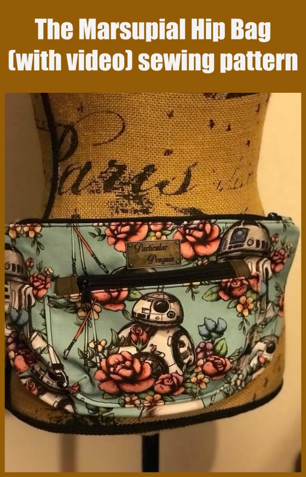The Marsupial Hip Bag (with video) sewing pattern