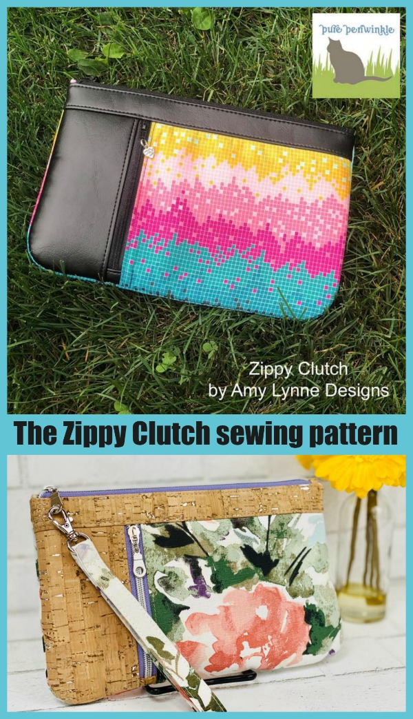 The Zippy Clutch sewing pattern