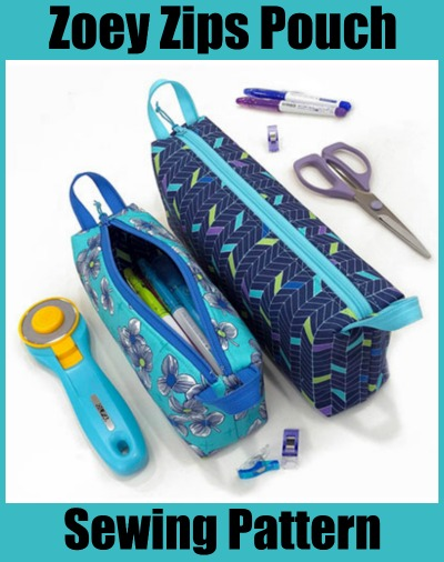 Zoey Zips Pouch sewing pattern