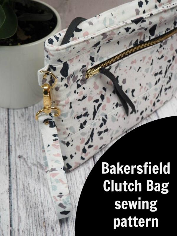 Bakersfield Clutch Bag sewing pattern