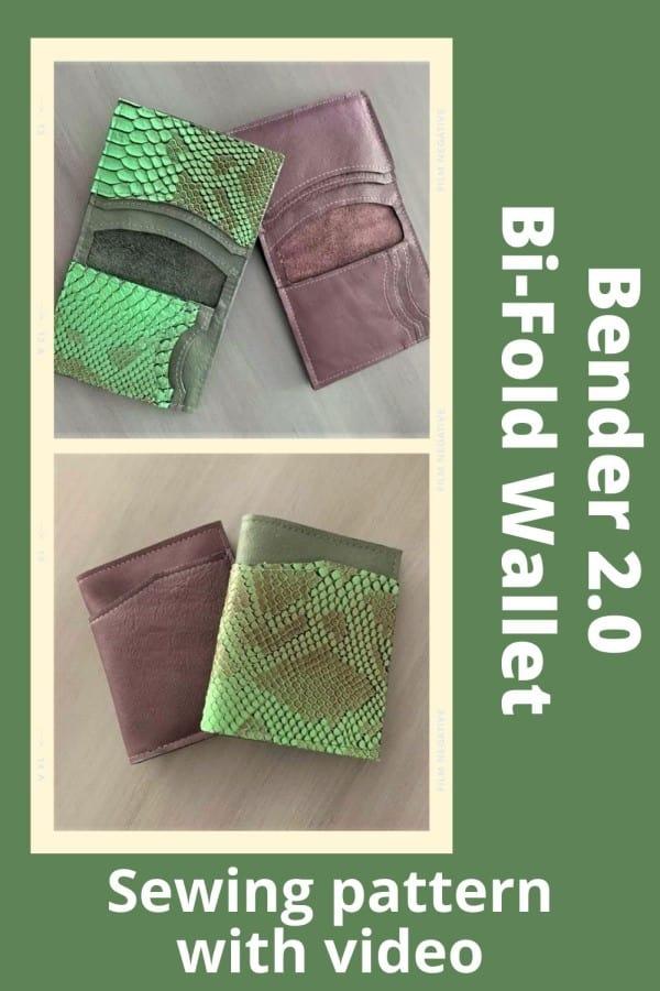 Bender 2.0 Bi-Fold Wallet (With video) sewing pattern