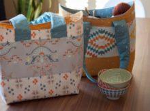 Bucket Basket Tote Bag FREE sewing pattern