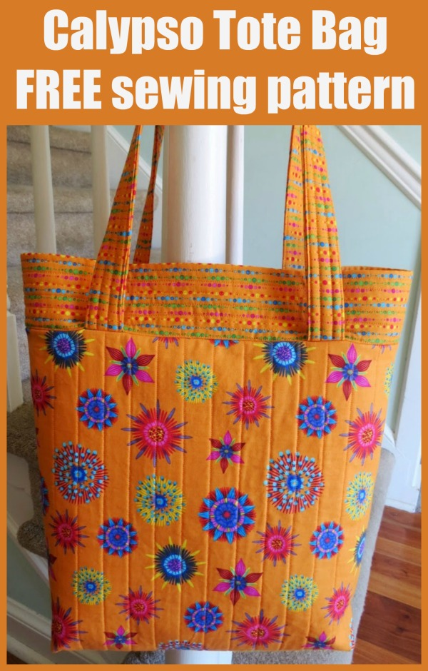 Calypso Tote Bag FREE sewing pattern