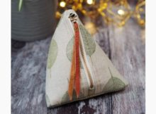 Cute Pyramid Pouch FREE sewing pattern