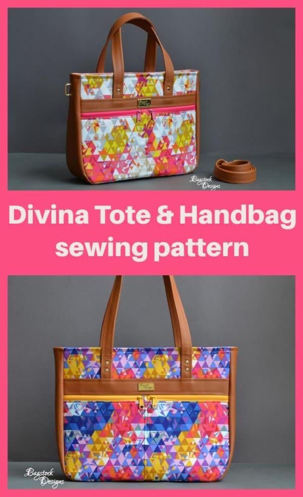 Divina Tote & Handbag sewing pattern