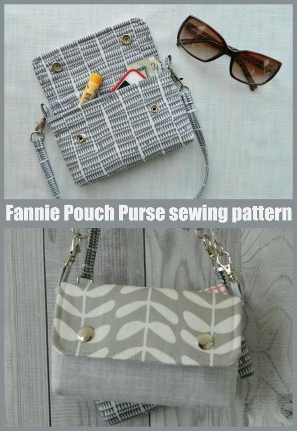 Fannie Pouch Purse sewing pattern