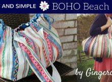 Free, fast, and easy Boho Beach Bag sewing pattern and video