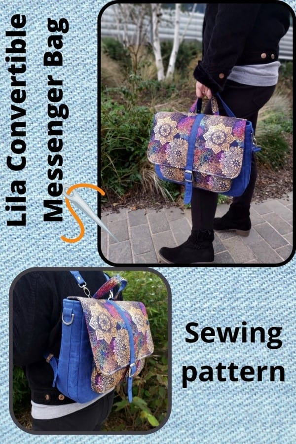 Lila Convertible Messenger Bag sewing pattern