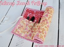 Makeup Brush Roll-Up FREE sewing tutorial