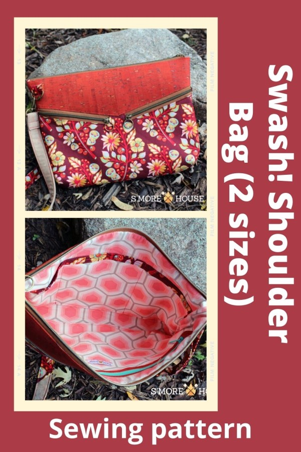 Swash! Shoulder Bag sewing pattern (2 sizes)