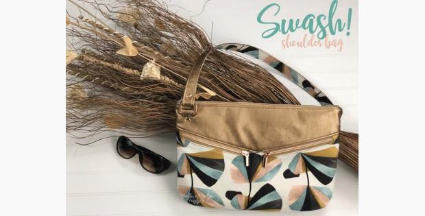 Swash! Shoulder Bag sewing pattern (2 sizes)