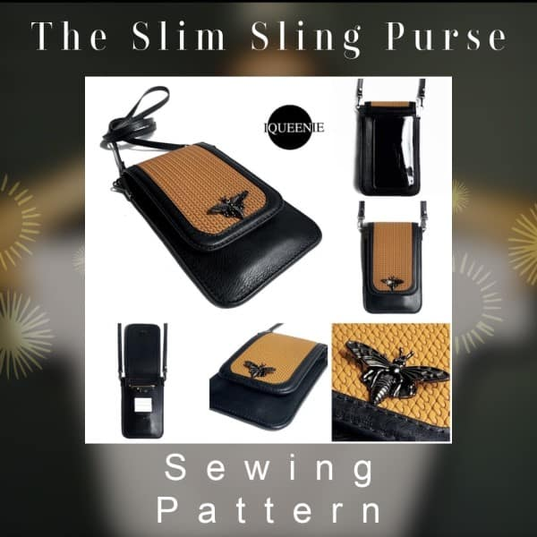 The Slim Sling Purse sewing pattern