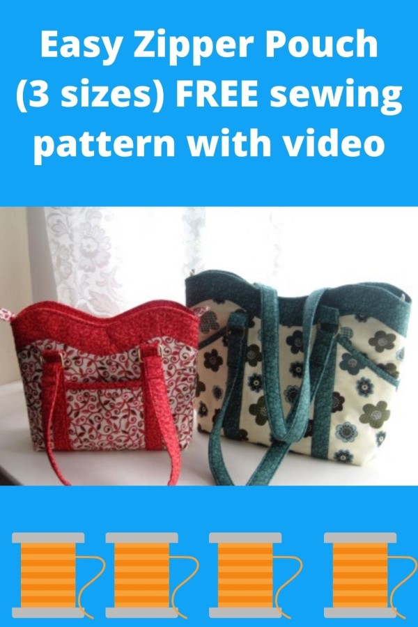 The Wavey Top Tote Bag FREE sewing pattern (2 sizes)