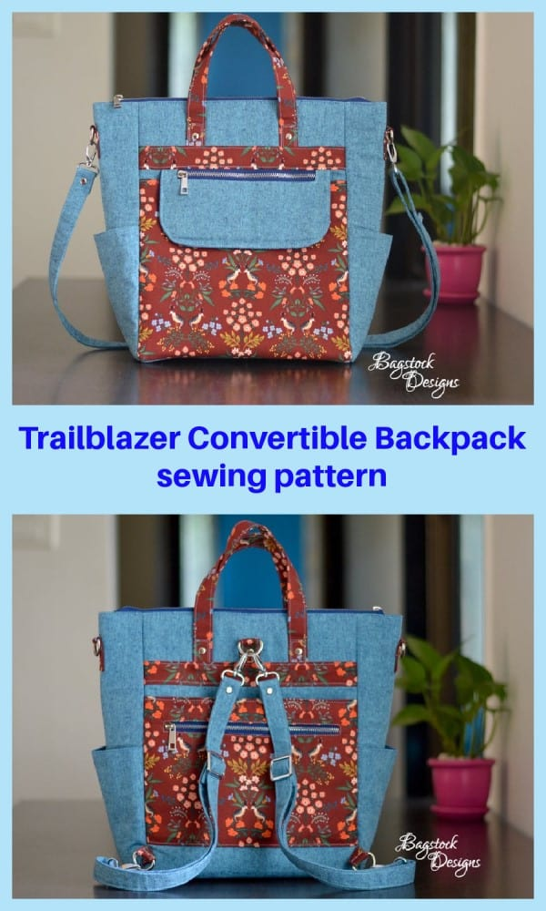 Trailblazer Convertible Backpack sewing pattern