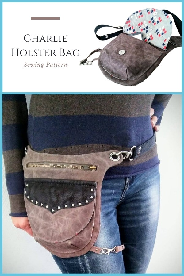 Sewing pattern for the Charlie Holster Bag