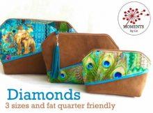 Diamond Pouch (3 sizes) sewing pattern