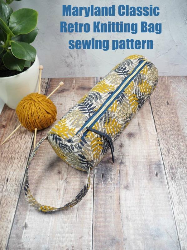 Maryland Classic Retro Knitting Bag sewing pattern