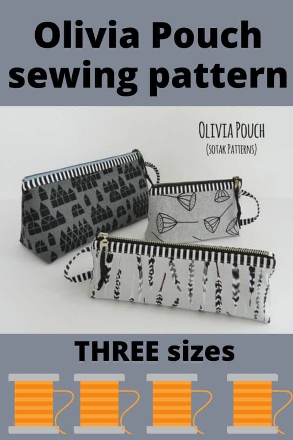 Olivia Pouch (3 sizes) sewing pattern