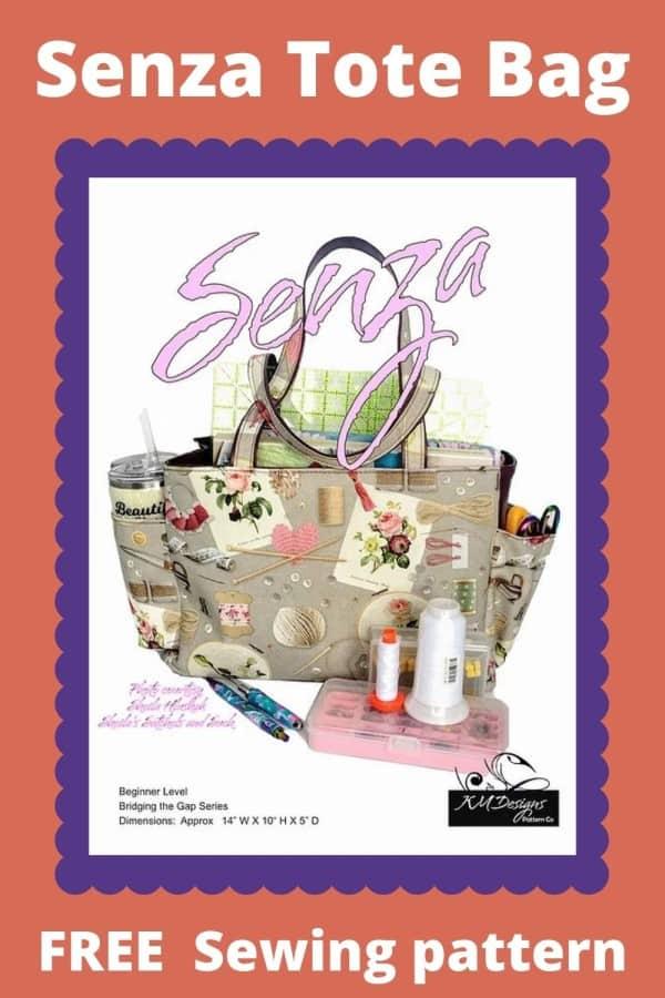 Senza Tote Bag FREE sewing pattern