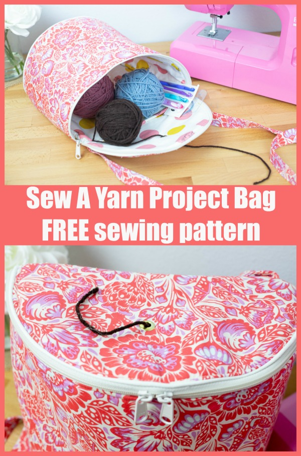 Sew A Yarn Project Bag FREE sewing pattern