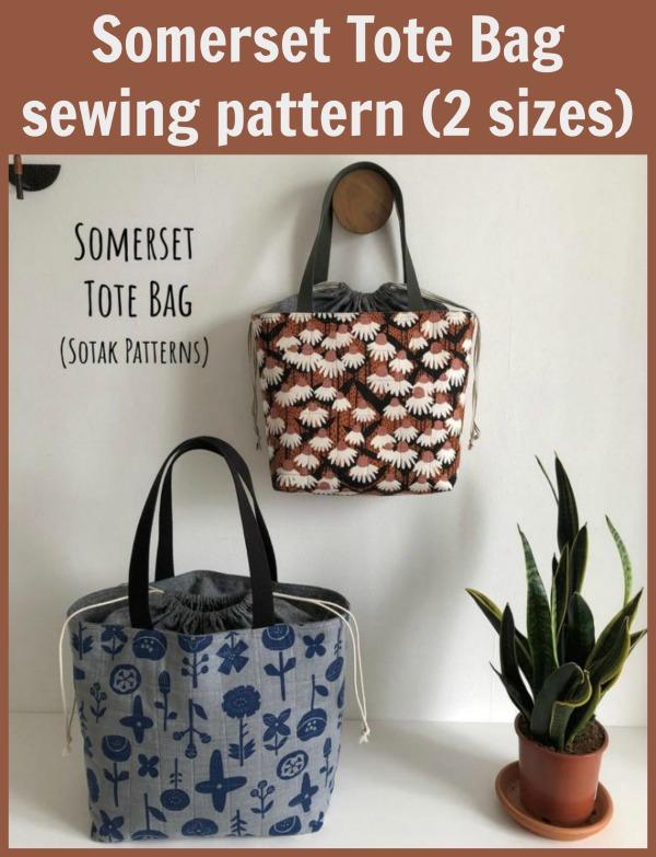 Somerset Tote Bag sewing pattern (2 sizes)