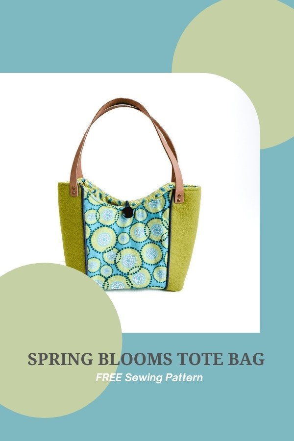 FREE pdf sewing pattern for the Spring Blooms Tote Bag