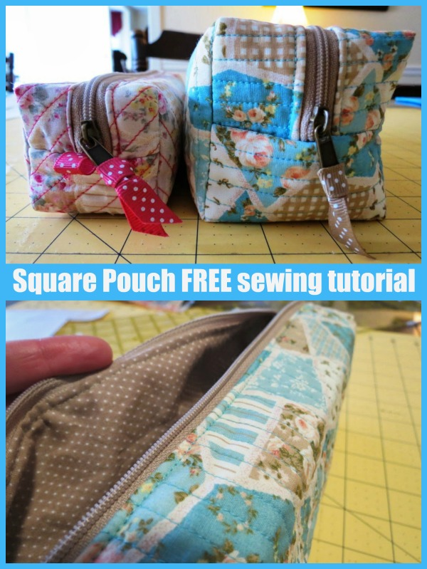 Square Pouch FREE sewing tutorial