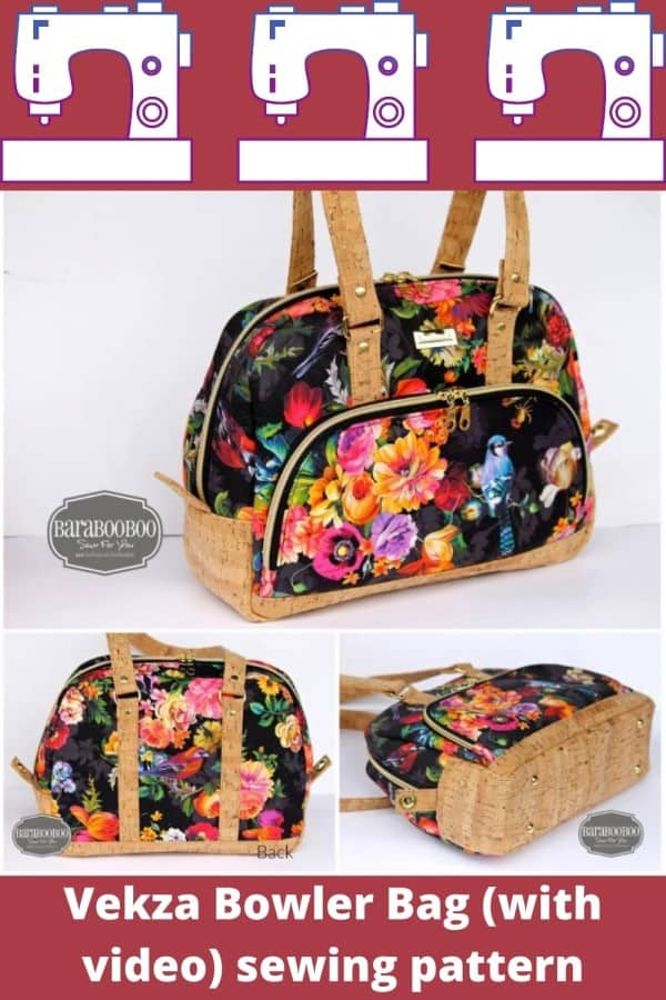Vekza Bowler Bag (with video) sewing pattern