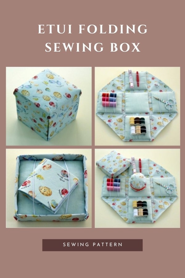 This is the pdf sewing pattern for the Etui Folding Sewing Box.