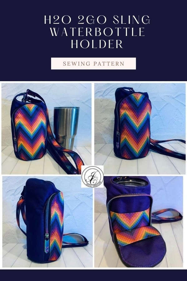 Sewing pattern for the H2O 2GO Sling Waterbottle Holder