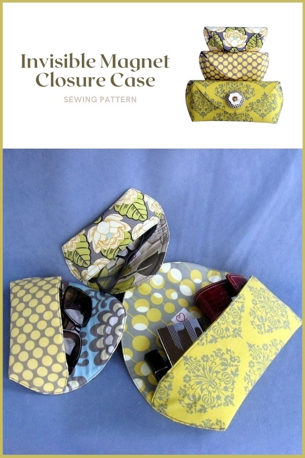 Invisible Magnet Closure Case sewing pattern (3 sizes)