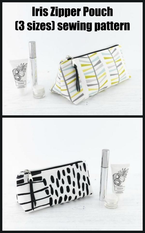 Iris Zipper Pouch (3 sizes) sewing pattern
