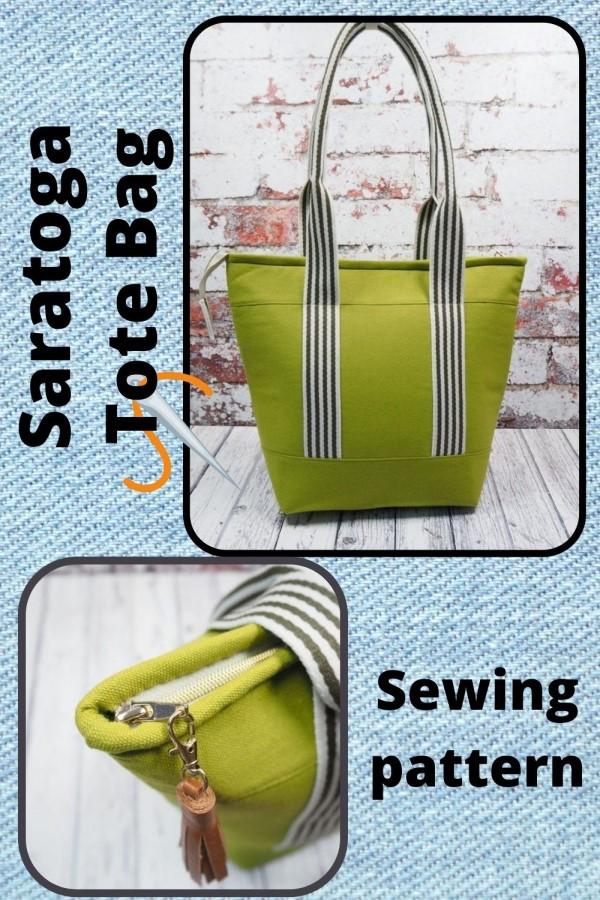 Saratoga Tote Bag sewing pattern