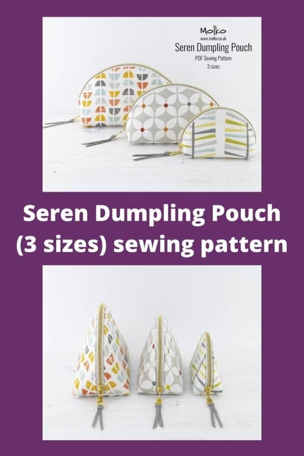 Seren Dumpling Pouch (3 sizes) sewing pattern
