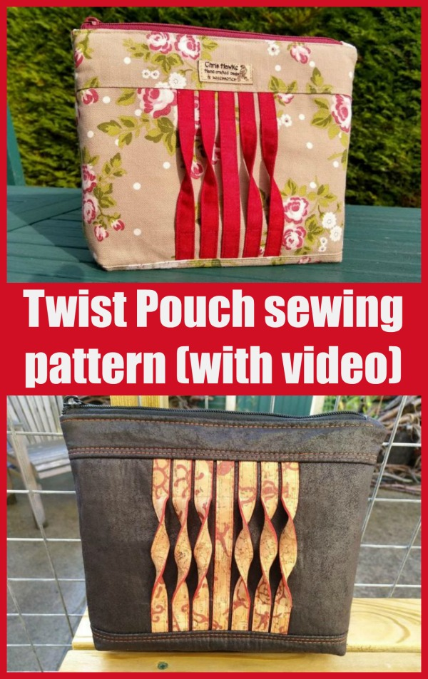 Twist Pouch sewing pattern (with video)