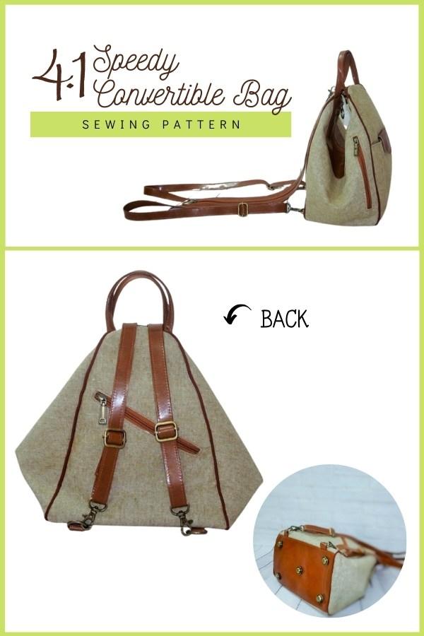 4.1 Speedy Convertible Bag sewing pattern