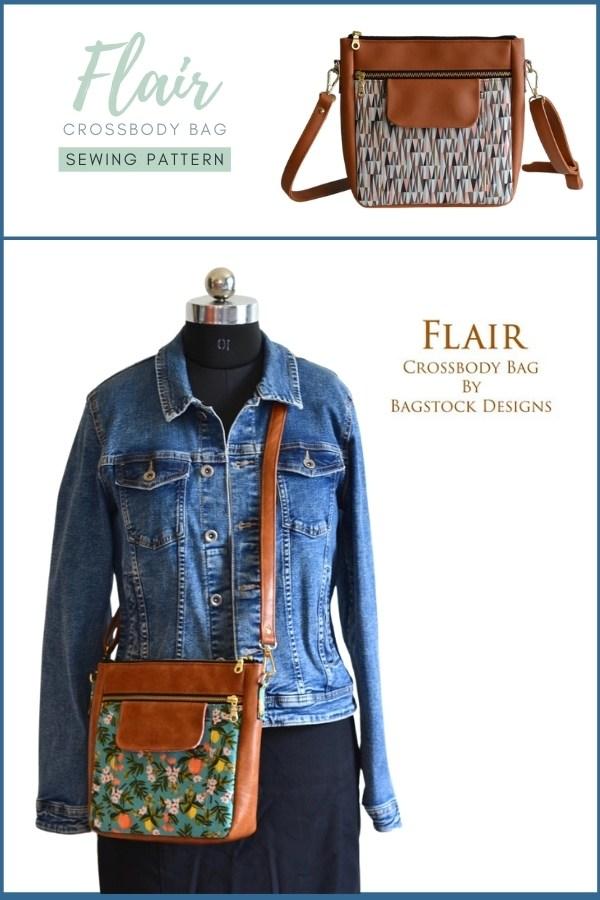 Flair Crossbody Bag sewing pattern
