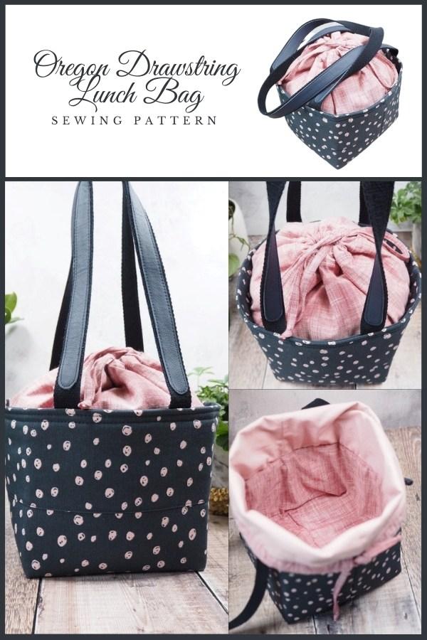 Oregon Drawstring Lunch Bag sewing pattern