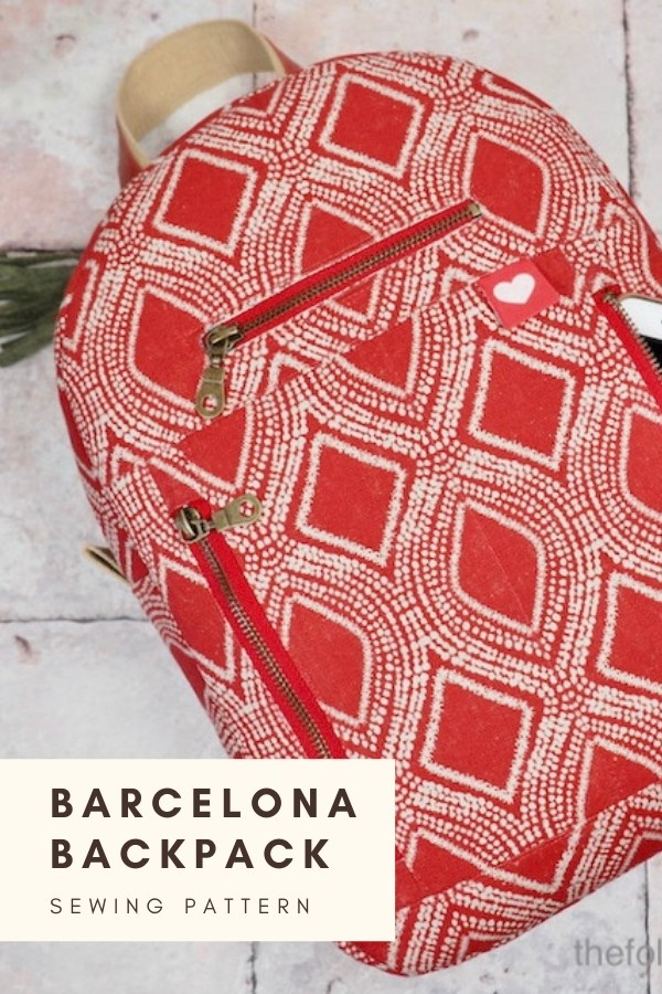 Barcelona Backpack sewing pattern