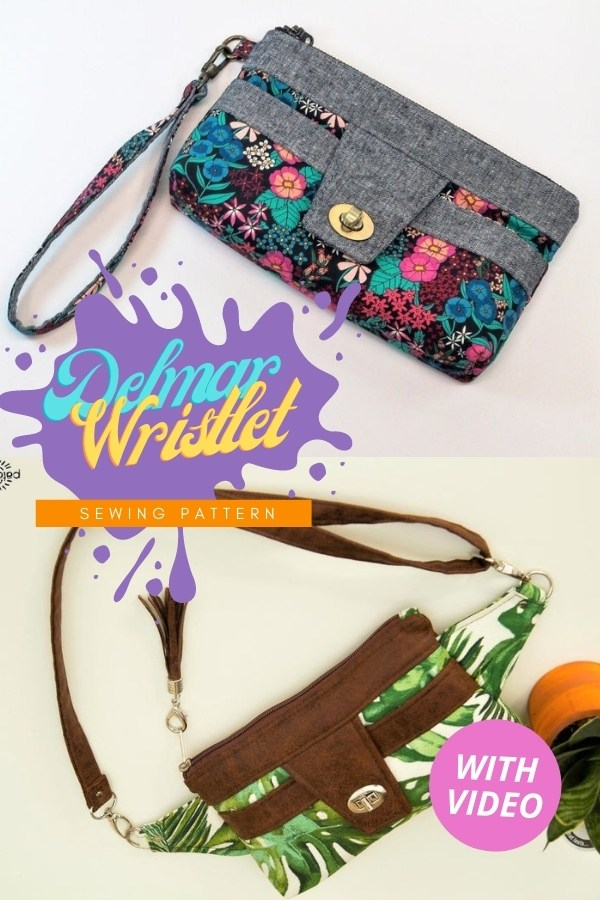 Delmar Wristlet sewing pattern (with video)
