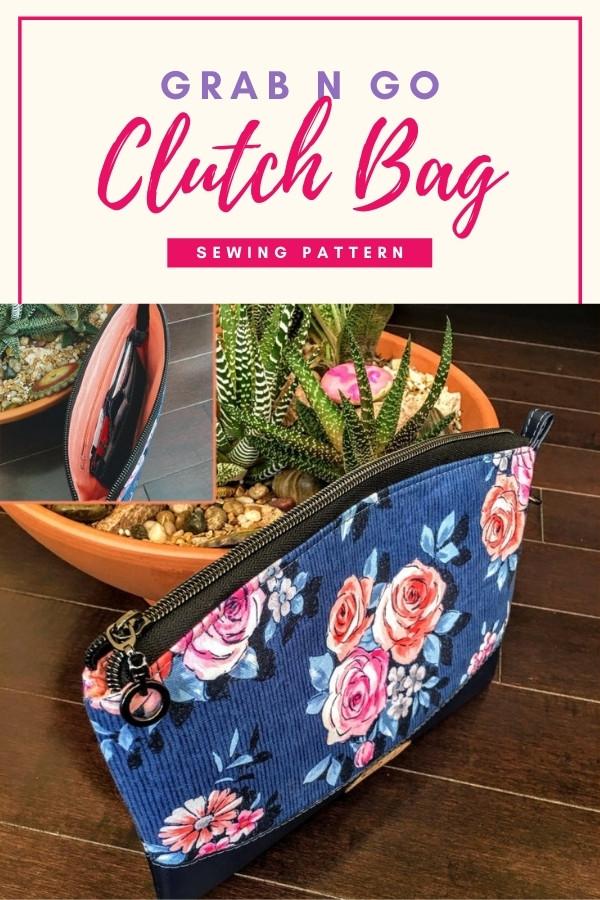 Grab n Go Clutch Bag sewing pattern