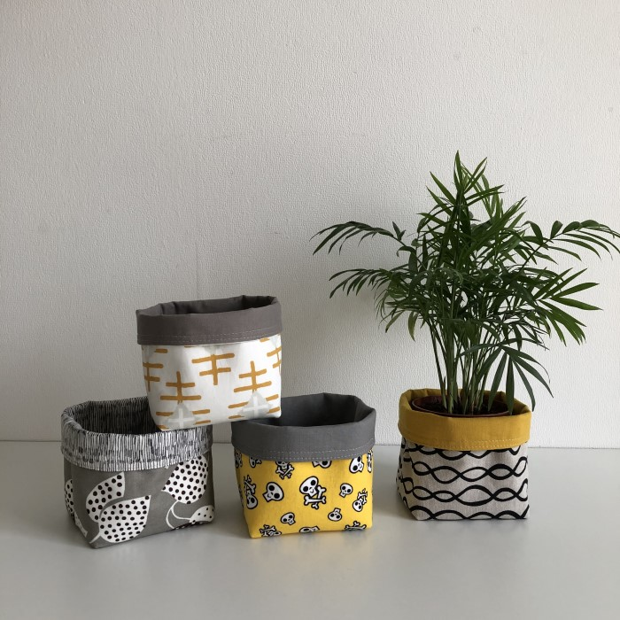 Reversible Fabric Baskets FREE video sewing tutorial