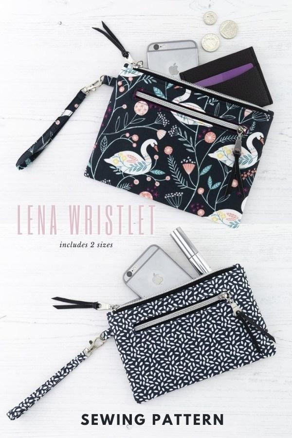 Lena Wristlet (2 sizes) sewing pattern